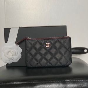 Authentic Chanel o case pouch